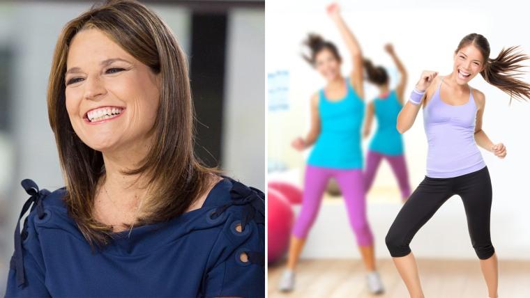 Savannah Guthrie, aerobics instructor
