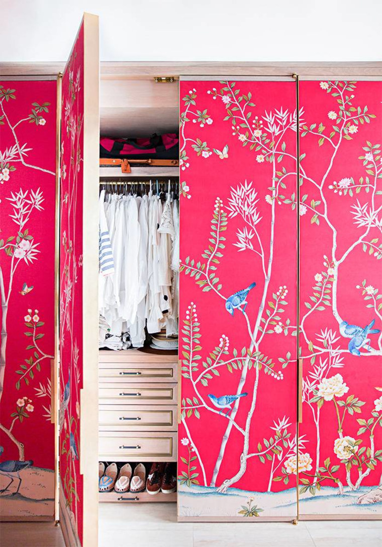 A playful, patterned statement on closet doors may appeal to a Leo's love of whimsy.