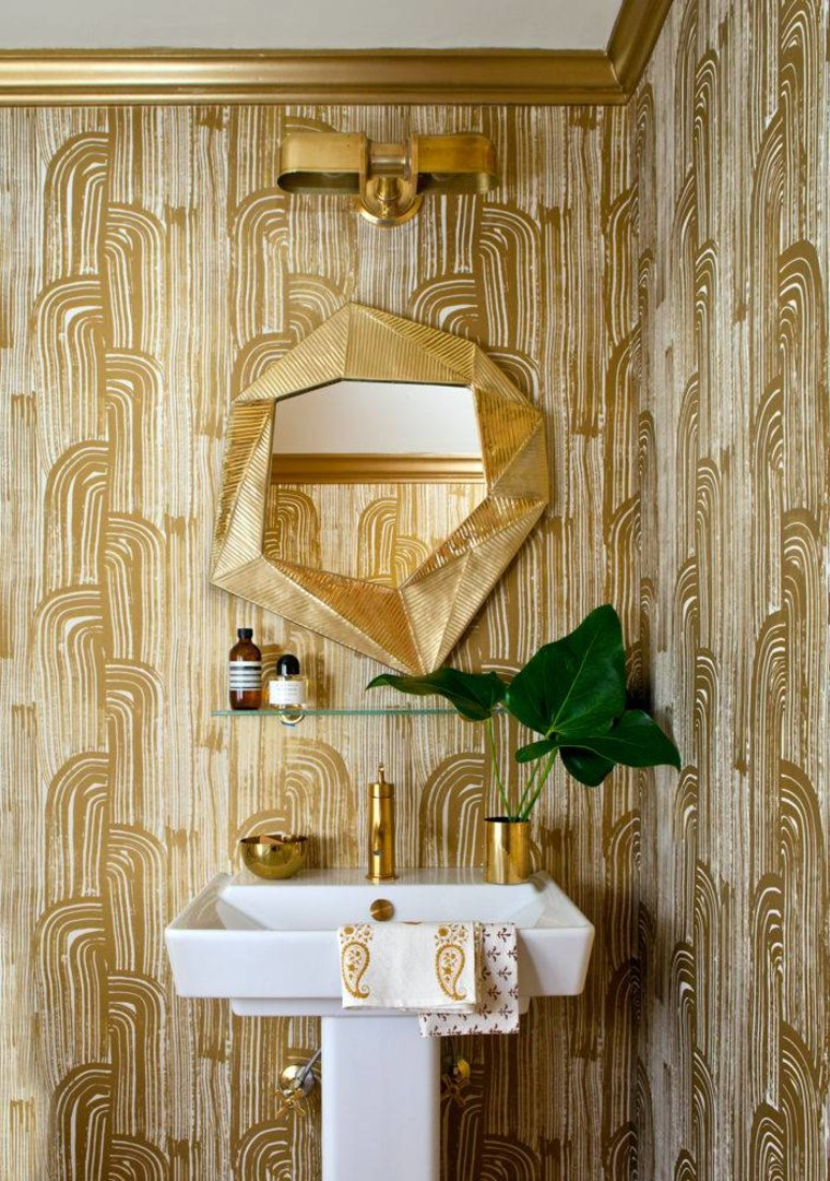 Leos love all things gold, like this ornate bathroom.