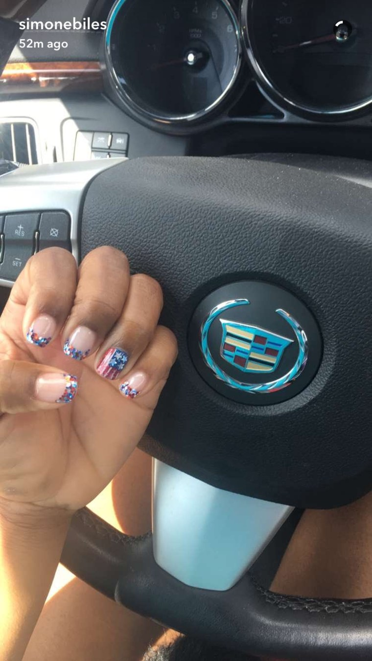 Simone Biles, Allison Schmidt and more Olympic athletes wear nail art