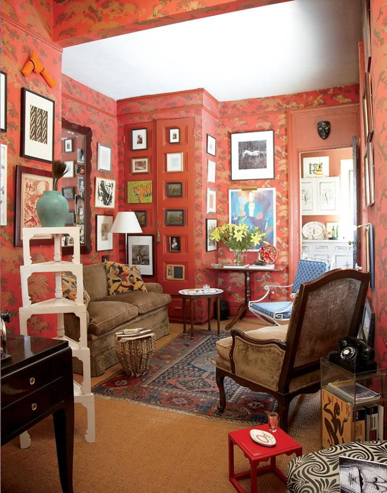 Beautiful orange-hued walls might appeal to a Leo's sense of design.