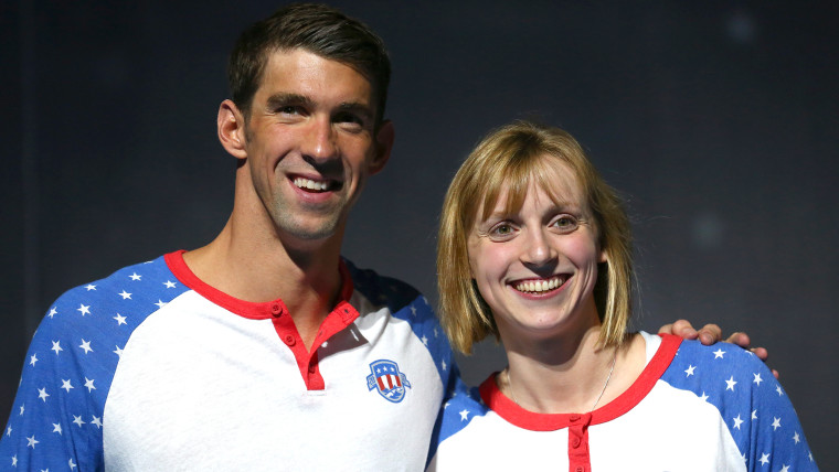 Michael Phelps and Katie Ledecky