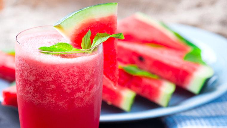Watermelon rose slushie