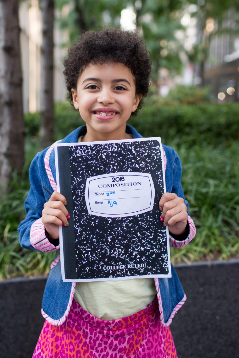DIY back to school signs - marble composition book cover