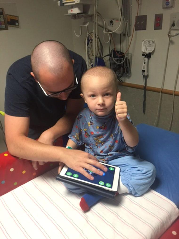 Superhero artwork brings smiles to boy battling cancer