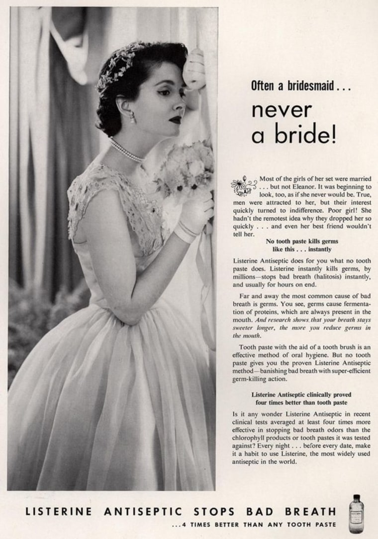 Listerine ad about bridesmaid