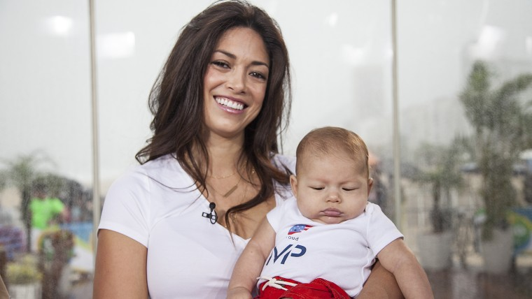 Michael Phelps' fiancée and son
