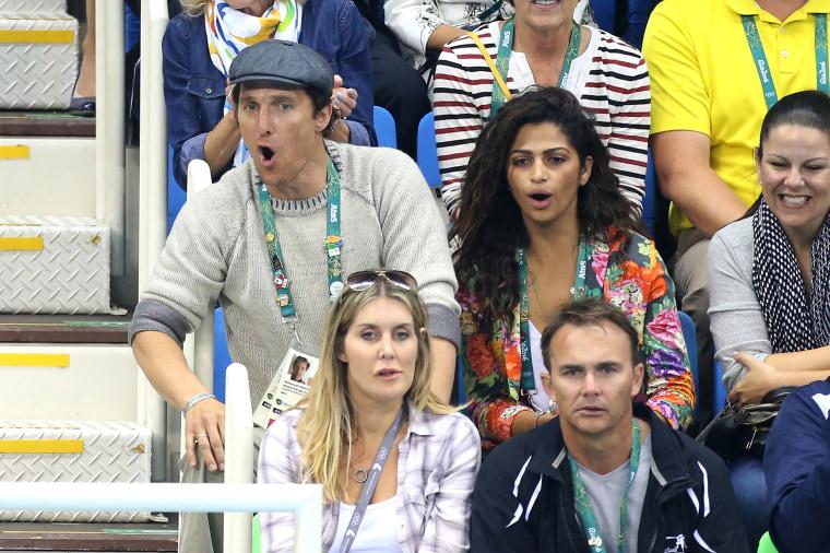 Matthew McConaughey and his wife Camila Alves