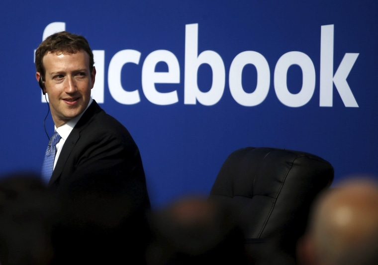 Image: File photo of Facebook CEO Mark Zuckerberg during a town hall at Facebook's headquarters in Menlo Park, California
