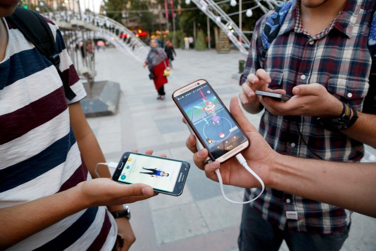 Image: Pokemon Go players in Iran