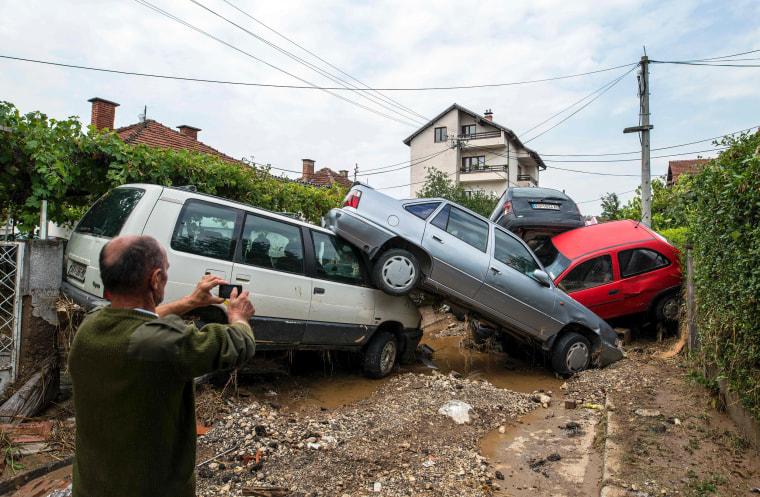 Image: MACEDONIA-WEATHER-FLOOD