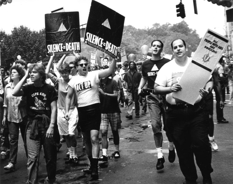 ACT UP members at Gay & Lesbian Pride March