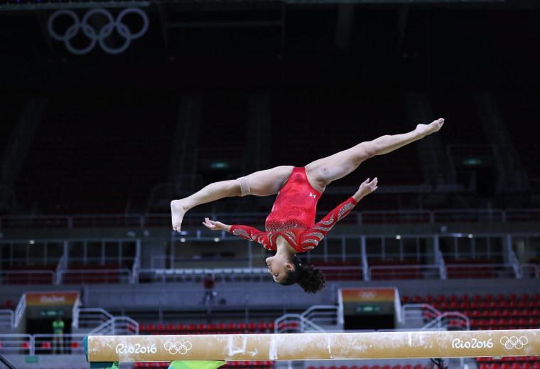 Artistic gymnast Laurie Hernandez of USA