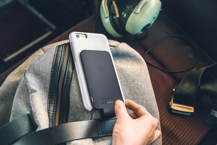 The OtterBox UniVERSE case with a removable back plate lets you add on accessories such as more battery power or a tripod.