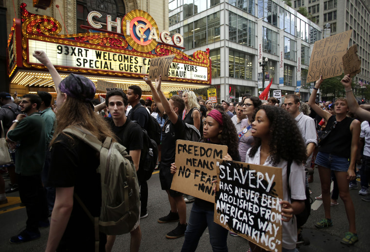Image: Activists March Against Police Violence In Chicago