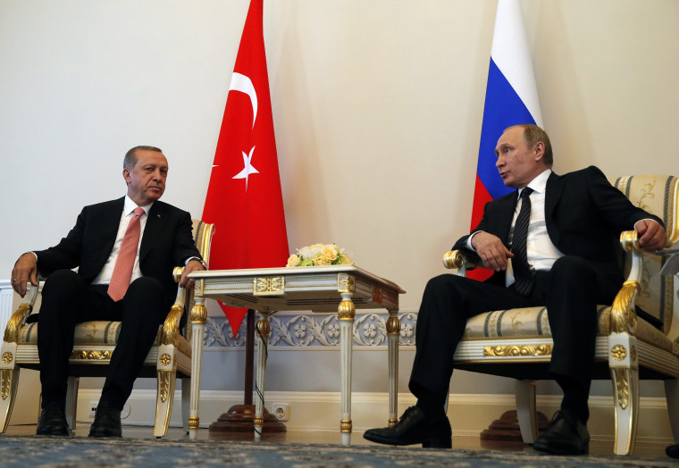 Image: Turkish President Recep Tayyip Erdogan and Russian President Vladimir Putin