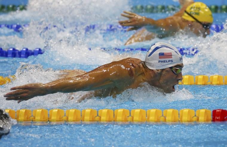 Image: Swimming - Men's 200m Butterfly - Heats