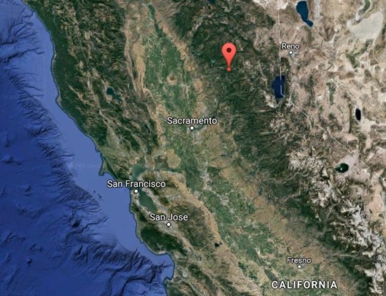 Image: Map of Nevada County, California