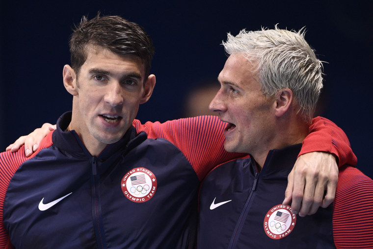 Image: Michael Phelps (L) and Ryan Lochte.