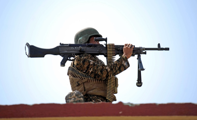Image: Afghan forces operation against IS militants