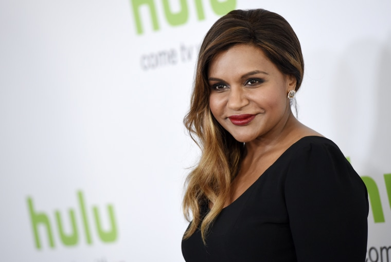 "Mindy Kaling, star of the Hulu series ""The Mindy Project,"" poses before the network's panels during the Television Critics Association 2016 Summer Press Tour."