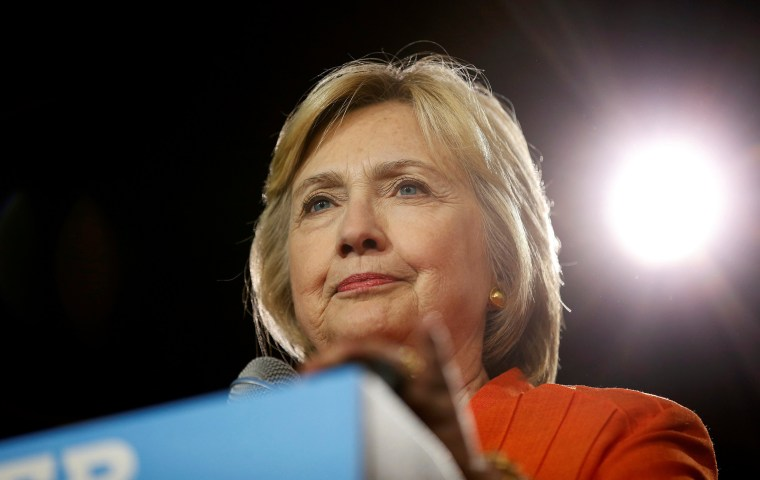 Image: U.S. Democratic presidential nominee Hillary Clinton pauses while speaking during a campaign rally in Kissimmee
