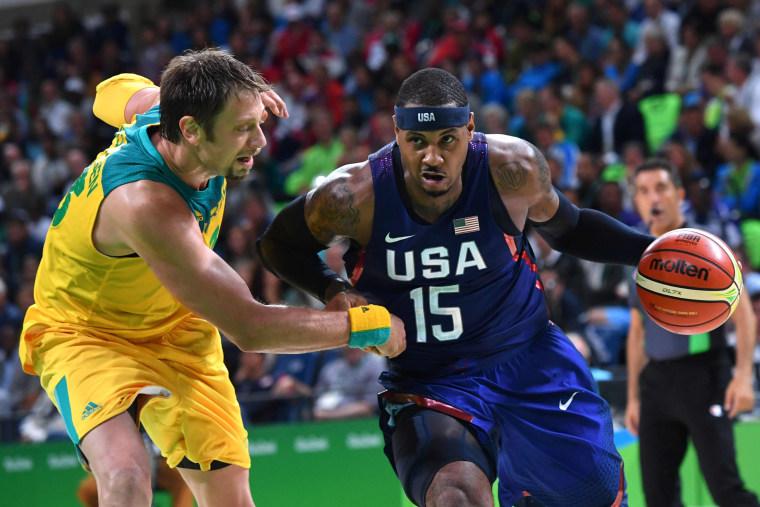 Image: BASKETBALL-OLY-2016-RIO-AUS-USA