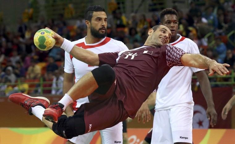 Image: Handball - Men's Preliminary Group A Tunisia v Qatar