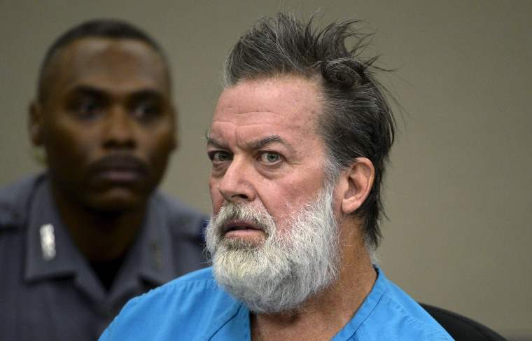 Image: Robert Lewis Dear, accused of shooting three people to death and wounding nine others at a Planned Parenthood clinic in Colorado last month, attends his hearing at an El Paso County court in Colorado Springs