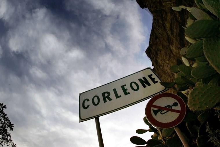Image: Street sign of Corleone, Sicily