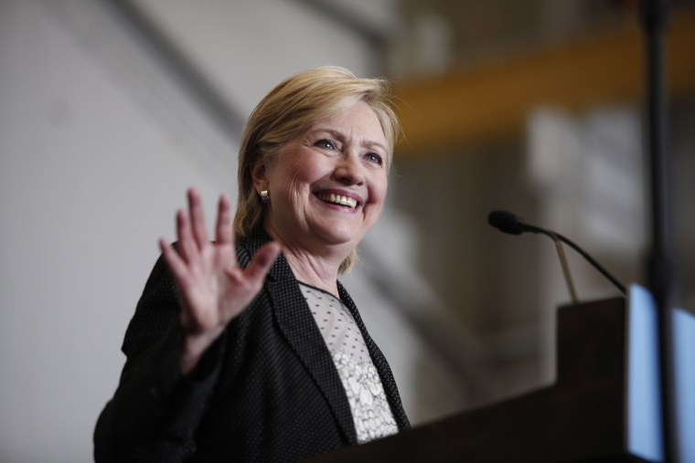 Image: Hillary Clinton Delivers Speech On US Economy In Warren, Michigan