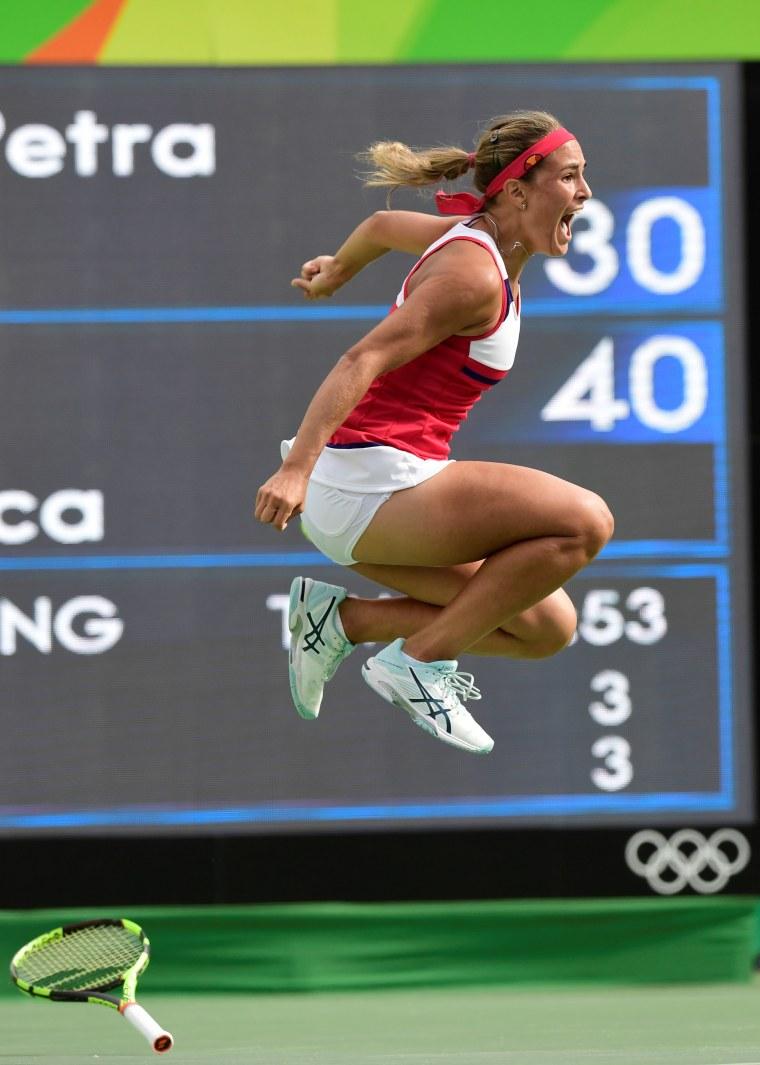 Team Puerto Rico Tennis Star Mónica Puig Closer to Olympic Gold After Win