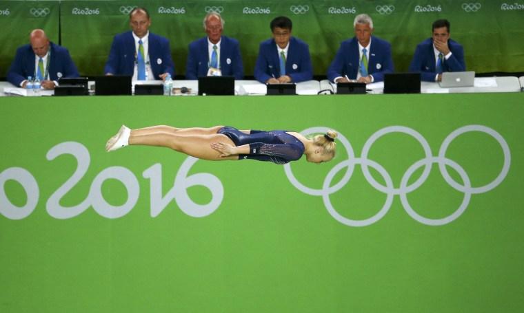 Image: 2016 Rio Olympics - Trampoline Gymnastics - Preliminary - Women's Qualification