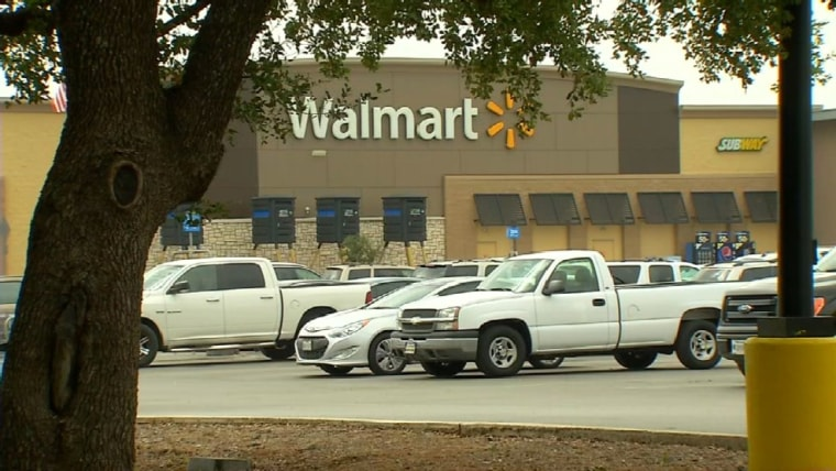 An infant was found dead inside a car in the parking lot of the Wal-Mart store in Helotes, Texas.