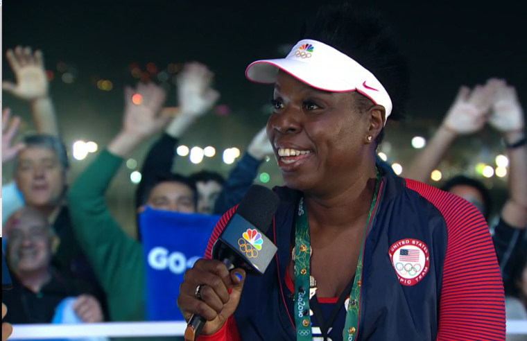 Image: Leslie Jones at the Rio Olympics