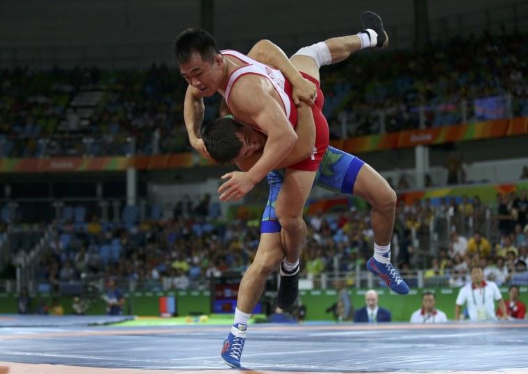 Image: Wrestling - Men's Greco-Roman 59 kg Quarterfinal