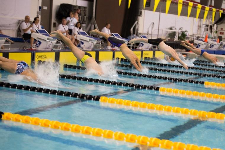 A scene from 2016's International Gay and Lesbian Aquatics Championships in Edmonton, Canada.