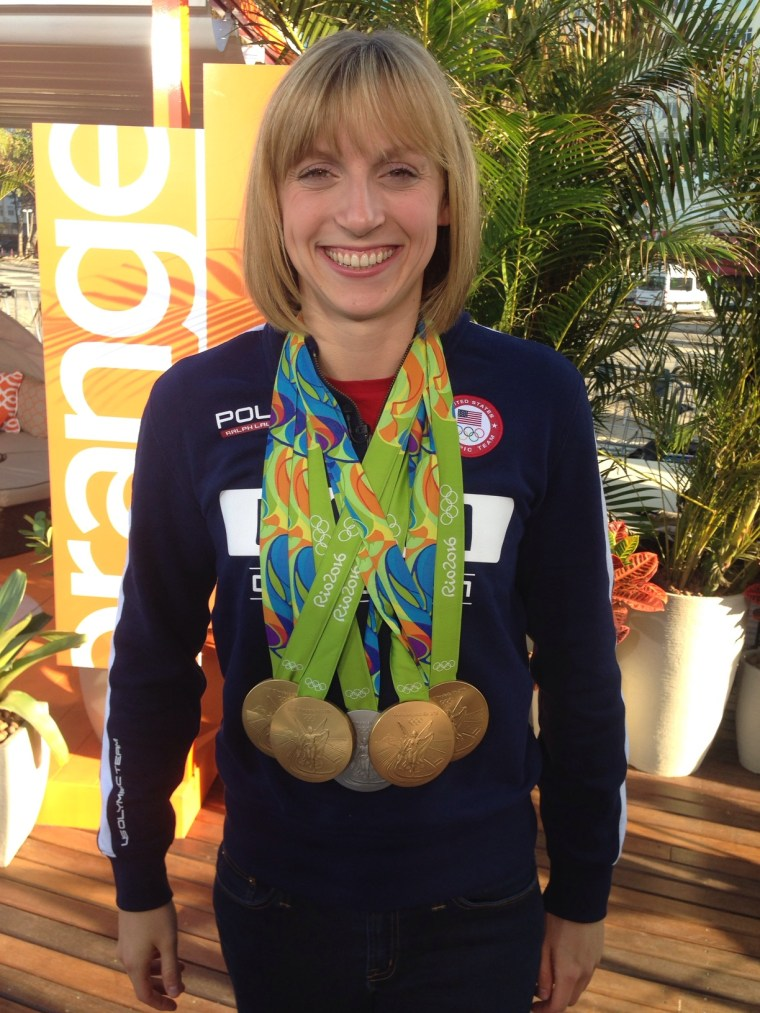 Katie Ledecky poses with Olympic medals on TODAY
