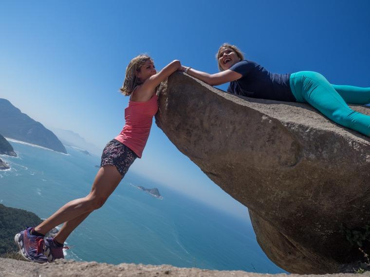 Jenna Bush Hager and Natalie Morales hang out in Rio.