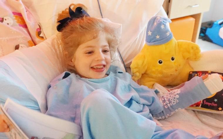 Eliza O'Neill gets treatment for Sanfilippo syndrome