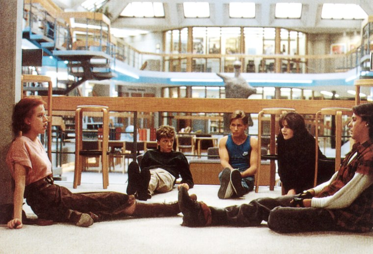 """In 1985's """"The Breakfast Club,"""" a princess (Molly Ringwald), a geek (Anthony Michael Hall), a jock (Emilio Estevez), a basket case (Ally Sheedy) and a delinquent (Judd Nelson) are all forced to share a Saturday in detention. After pushing each other's buttons all day long, they finally learn to understand each other in spite of their differences."""
