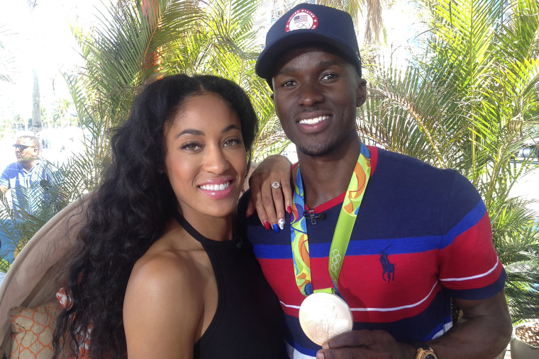 Will Claye/Queen Harrison proposal story