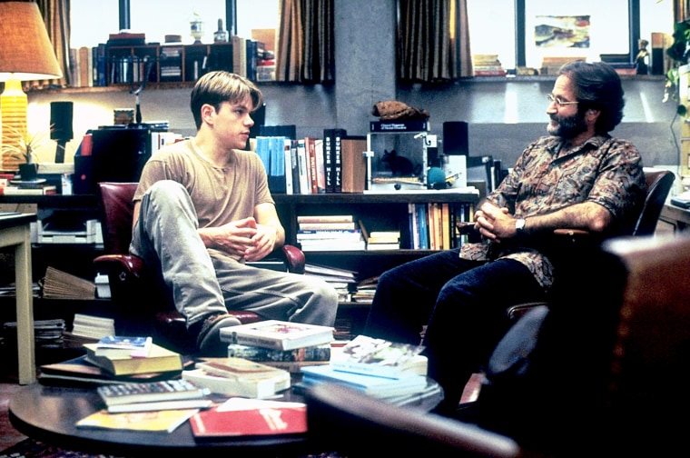GOOD WILL HUNTING, Matt Damon, Robin Williams, 1997, (c) Miramax/courtesy Everett Collection