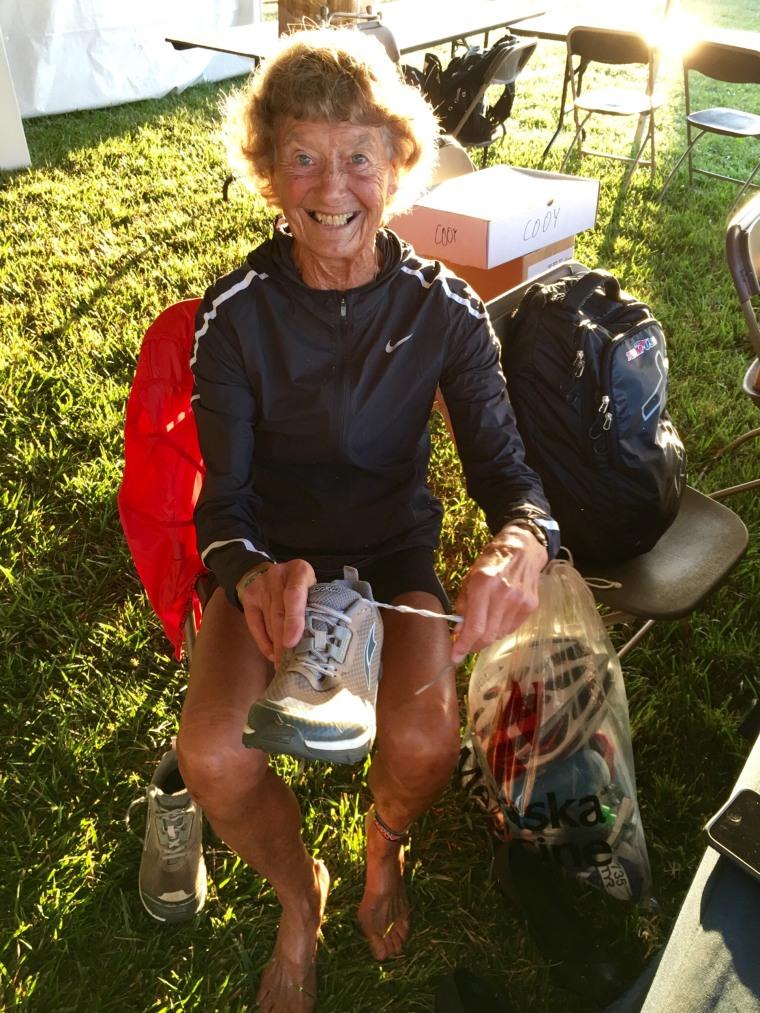 Iron Nun Sister Madonna Buder forgot her shoes at a recent race