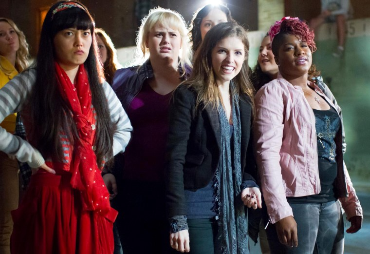 Hana Mae Lee, Rebel Wilson and Anna Kendrick in Universal Pictures' Pitch Perfect (2012)