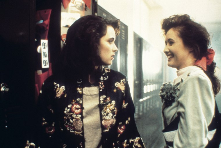 HEATHERS, from left: Winona Ryder, Shannen Doherty, 1988, (C) New World/courtesy Everett Collection