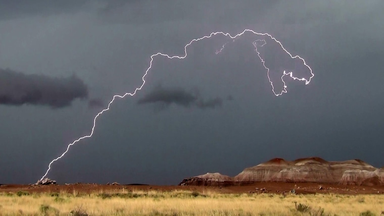 T. rex-shaped lightning bolt