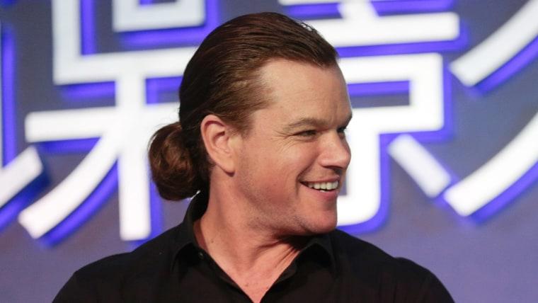 Matt Damon man bun