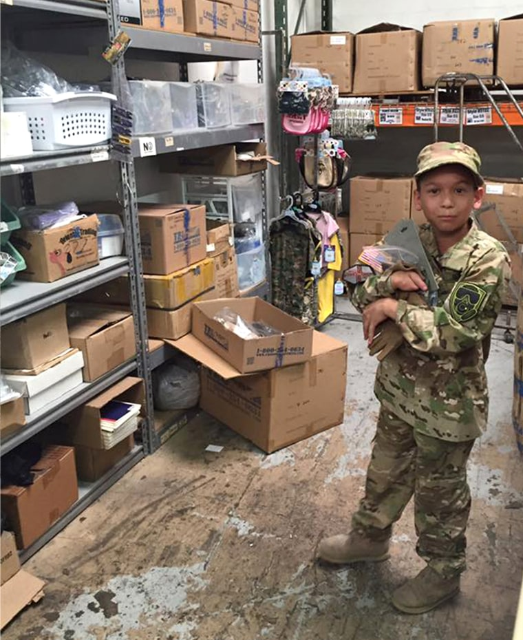 A 10-year-old boy named Diego who's always wanted to be a soldier, like his dad.