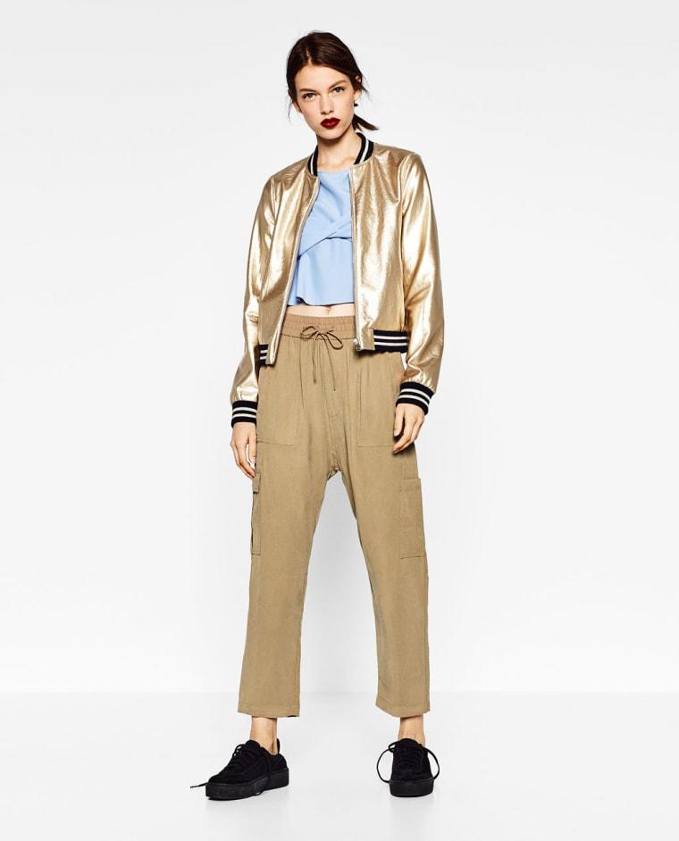 Zara gold-toned jacket